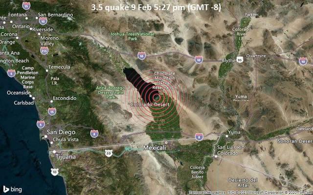 3.5 quake 9 Feb 5:27 pm (GMT -8)